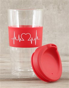 gifts: Personalised Heartbeat Travel Mug!