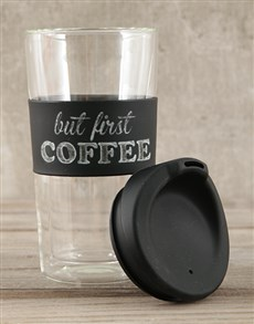 gifts: Personalised But First Coffee Travel Mug!