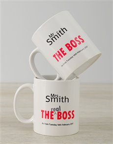 gifts: Personalised The Boss Mug Set!