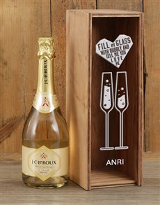 gifts: Personalised Fill My Glass Bubbly Crate!