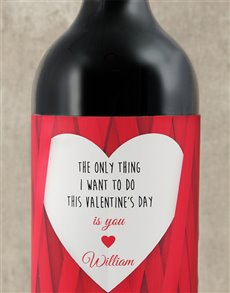 gifts: Personalised Valentines Do You Wine!
