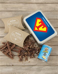 gifts: Personalised Superman Snack Tin!