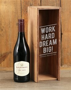 gifts: Personalised Dream Big Backsberg Red Crate!
