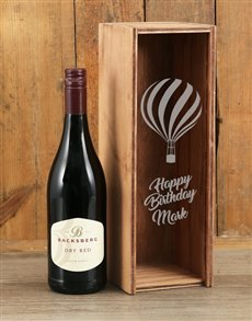 gifts: Personalised Birthday Backsberg Red Crate!