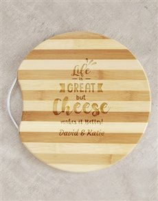 gifts: Personalised Cheese Board!
