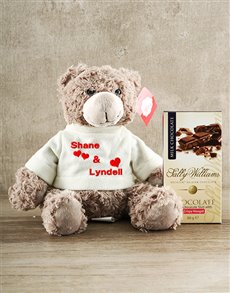 gifts: Personalised Teddy with Nougat !