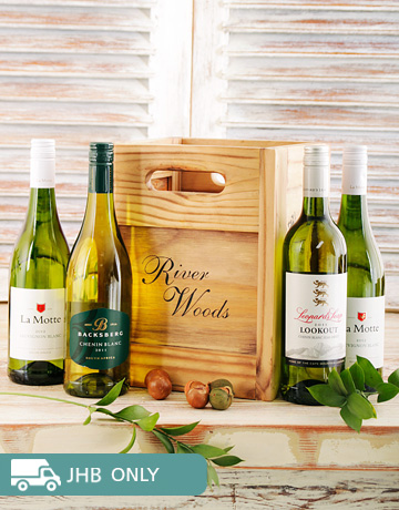 gifts: Wooden Crate of White Wines!