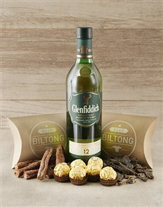 gifts: Glenfiddich Scotch Whiskey and Biltong Hamper!