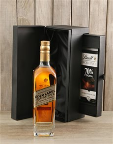 gifts: Johnnie Walker Gold & Lindt Slab!