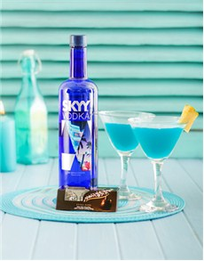 gifts: Skyy Vodka with Martini and Lindt Chocolates!