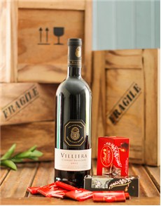 gifts: Villiera Red Wine and Chocolates!