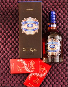 gifts: 18 year Chivas and Lindt Chocolate!