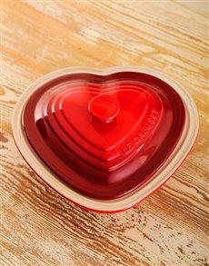 gifts: Le Creuset Deep Heart Dish!