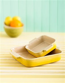 gifts: Le Creuset Set of 2 Square Dishes   Soleil!