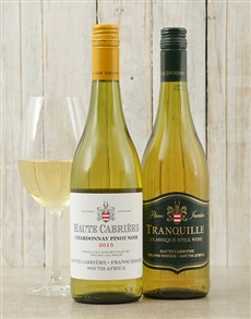 gifts: Haute Cabriere Chardonnay and Pierre Jourdan Tranq!