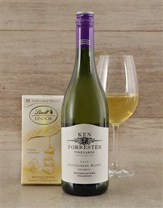 gifts: Ken Forrester Wine and Lindt Chocolate!