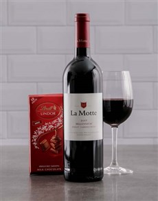 gifts: La Motte Wine and Lindt Chocolate!