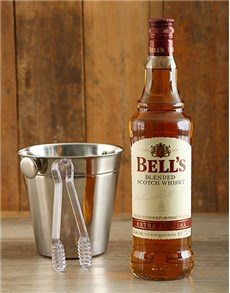 gifts: Bells Whiskey & Ice Bucket!