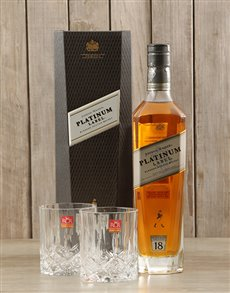 gifts: Johnnie Walker Platinum & Crystal Glasses!
