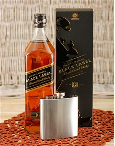 gifts: Johnnie Walker Black & Hip flask!