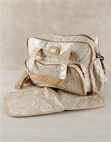 gifts: Thandana Brown Heart Design Nappy Bag!