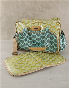 gifts: Thandana Turquoise Heart Nappy Bag!