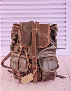 gifts: Thandana Leather Back Pack!