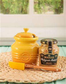 gifts: Le Creuset Mustard Jar!