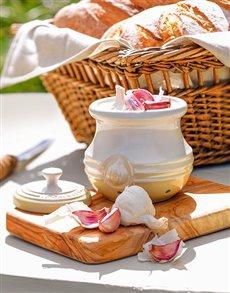 gifts: Le Creuset Dune Garlic Keeper!