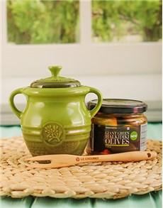 gifts: Le Creuset Olive Jar Gift!