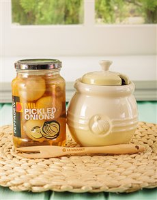 gifts: Le Creuset Onion Jar!