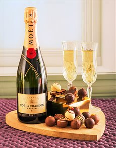 gifts: Moet Champagne & Assorted Chocolate Truffles!
