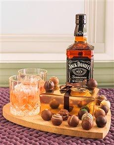gifts: Jack Daniels & Chocolate Truffles!