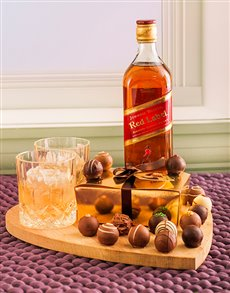 gifts: Johnnie Walker Red & Chocolate Truffles!