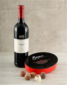 gifts: 8 Piece Chocolate Truffles & KWV Merlot Hamper!