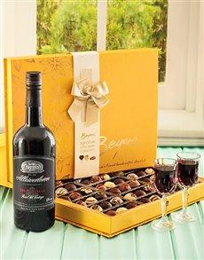 gifts: Large Box of Truffels & Allesverloren Port!