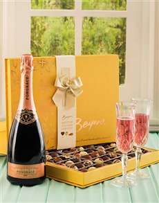 gifts: Chocolate Truffles and Rose Pongracz!