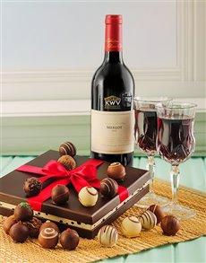 gifts: KWV Merlot & Chocolate Truffles!