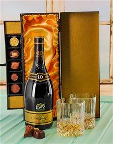 gifts: 10 Year Brandy & Luxury Chocolate Box!