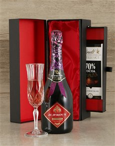 gifts: JC Le Roux Rose Sparkling Wine & Luxury Chocolate !