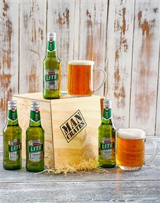 gifts: 4 Pack Castle Lite in a Man Crate!