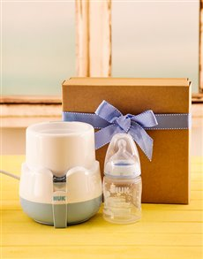 gifts: Baby Boy Bottle Warmer Gift!