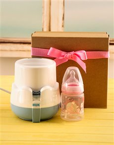 gifts: Baby Girl Bottle Warmer Gift!