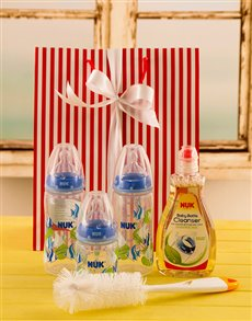 gifts: Baby Boy Bottle Gift Set!