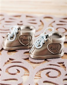 gifts: Tooth and Curl Boys Booties Trinket!