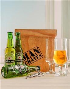 gifts: Heineken Beer Man Crate!
