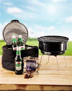 gifts: Mini Braai Kit with Beers!