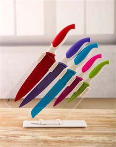 gifts: Maxwell & Williams Colour Knife Set!