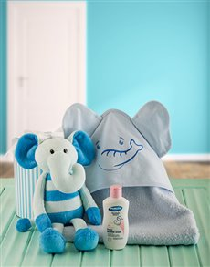 gifts: Baby Boy Elephant Bath Time Set!
