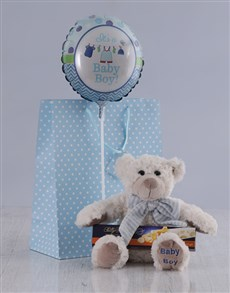 gifts: It's a Boy Teddy and Nougat Hamper!